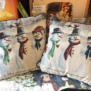 Other - Square snowman pillows